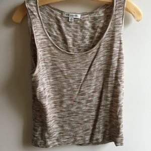 St. John Brown, Tan, Cream Tank Top